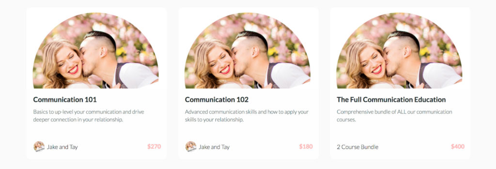 Relationship Project Online Courses Screenshot